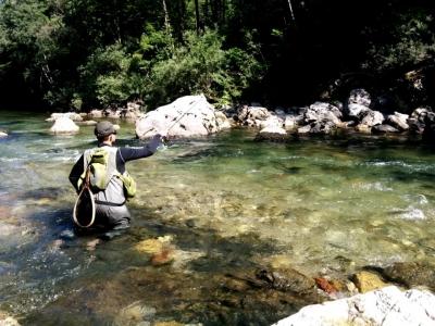 Fliegenfischen in Slowenien - flusse Idrijca - Sai...