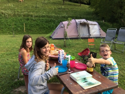 Farm camping in Slovenia